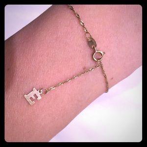 10k gold ankle bracelet